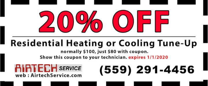 Airtech Service Coupon for 20% off of a residential tune-up